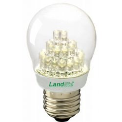 LANDLITE LED, E27, 2W, G45, 120lm, 3000K, kisgömb formájú fényforrás (LED-G45-2W)