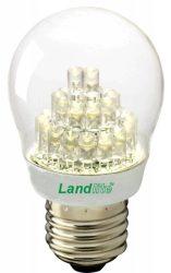 LANDLITE LED-G45-2W E27 230V melegfehér, LED izzó