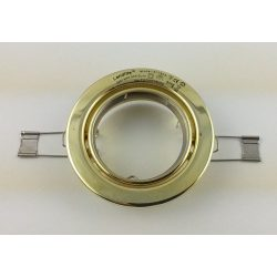 LANDLITE Egyes keret, GU5.3 (MR16) / GU10, billenő, egyenes, arany, max. 50W, spot keret (DL-60)