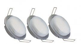 LANDLITE KIT-GX53-3x7W, Beépíthető lámpa komplett szett 3x7W energiatakarékos izzóval (izzók, kábelek mellékelve)