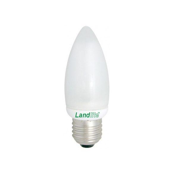 LANDLITE Energiatakarékos, E27, 9W, 450lm, 2700K, gyertya formájú fényforrás (EIC/M-9W)