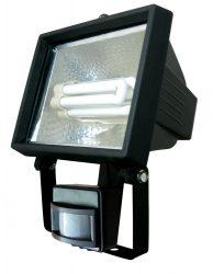 LANDLITE 015 SL-F118-24W, 1X24W 118mm/R7s, fényvető / reflektor (kompakt fénycső mellékelve), mozgásérzékelővel, fekete