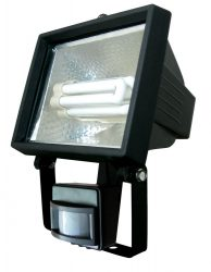 LANDLITE SL-F118-24W, 1X24W 118mm/R7s, fényvető / reflektor (kompakt fénycső mellékelve), mozgásérzékelővel, fekete