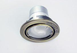 LANDLITE KIT-60A-3, 3db 13W GU10 230V fehér kompakt fénycső (energiatakarékos izzó), forgatható kivitel, beépíthető lámpa szett (3 db-os szett), antik bronz