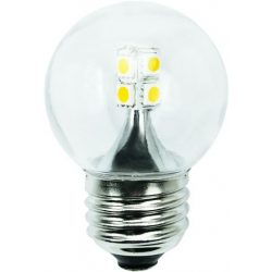 LANDLITE LED, E27, 2W, G45, 200lm, 2800K, kisgömb formájú fényforrás (LED-G45-509-2W)