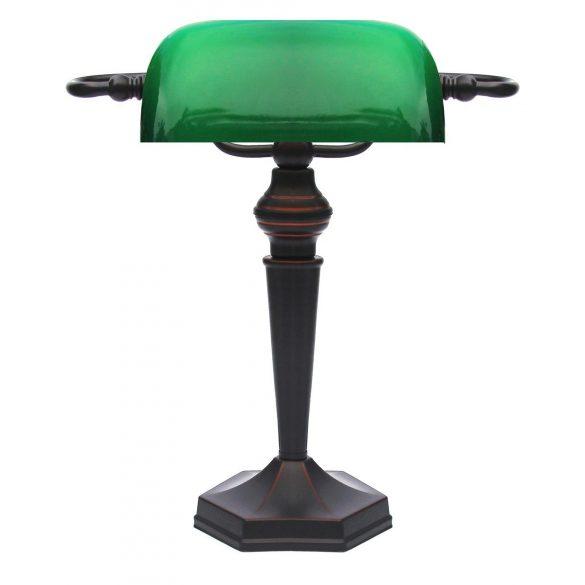 LANDLITE TL609 banklámpa, E27, max. 1x60W, zöld üvegburával