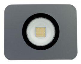 LANDLITE LED-FL-50W/MCL, 3000K meleg fehér,  szürke, 50W LED Reflektor / LED Fényvető
