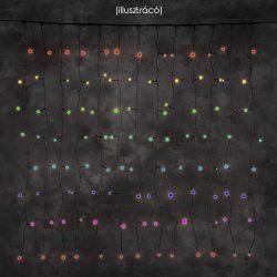 LANDLITE 24V CL-10X36-2X2M-24V/C, 10szál x 36db 4mm izzó, 50W, kültéri fényfüggöny, izzó szín: multi színes