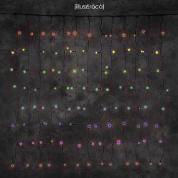 LANDLITE 24V CL-24X36-2X2M-24V/C, 24szál x 36db 4mm izzó, 60W, kültéri fényfüggöny, izzó szín: multi színes