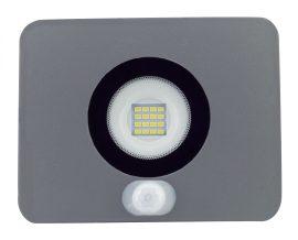 LANDLITE LED-SL-20W/MCL, 3000K meleg fehér,  szürke, 20W LED Reflektor / LED Fényvető mozgásérzékelővel