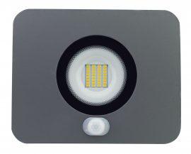 LANDLITE LED-SL-30W/MCL, 3000K meleg fehér,  szürke, 30W LED Reflektor / LED Fényvető mozgásérzékelővel