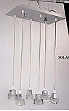 LANDLITE SOLAR-6PIN modern függesztett lámpa 6xGU10 50W 230V