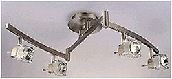 LANDLITE SOLAR-4C3 modern mennyezeti lámpa 4xGU10 50W 230V matt króm