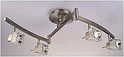 LANDLITE SOLAR-4C3 modern mennyezeti lámpa 4xGU10 50W 230V ezüst