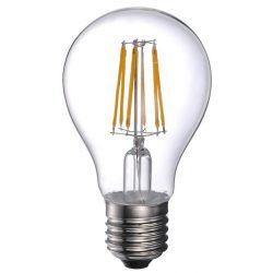 LANDLITE LED filament, E27, 10W, A60, 1055lm, 2700K, körte formájú fényforrás (LED-A60-10W/FLT)