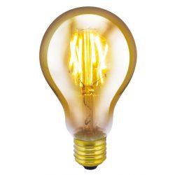 LANDLITE LED filament, E27, 4W, A75, 300lm, 1700K, dekor fényforrás (RUB-A75-4W/FLT)