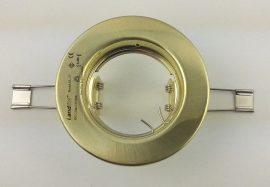 LANDLITE DL-57, 1x MR16 max 50W 12V G5,3, fix kivitel, egyes beépíthető lámpa, mat arany