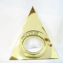 LANDLITE KIT-15-3, 3db JC max 20W G4 12V halogén izzó, fix kivitel, szekrény alatti háromszögű lámpa (3 db-os szett), arany