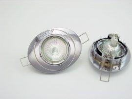 LANDLITE KIT-54-3, 3db MR16 20W 12V halogén izzó, forgatható kivitel, beépíthető lámpa szett (3 db-os halogén szett), króm