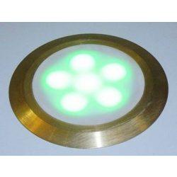 LANDLITE LED-GR01-3X1,2W , 3db-os szett, trafóval, fém szín: matt arany, LED szín: 7 szín változó, IP44, földbe süllyesztett LED lámpa