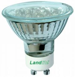 LANDLITE LED-GU10 230V 1.2W, LED izzó, piros