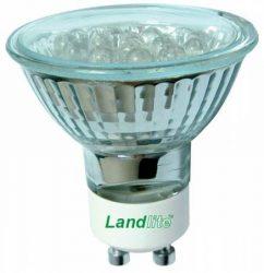LANDLITE LED-GU10 230V 1W, LED izzó, sárga