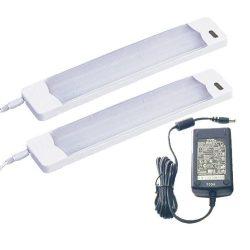 LANDLITE Energiatakarékos, 2 x 6W, melegfehér, 295mm, szekrény lámpa tápegységgel (UCC-106-2)