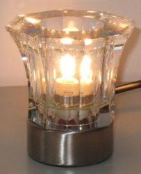 LANDLITE CRISPY/1TB , 1x40W G9 230V, kristály asztali lámpa