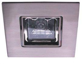 LANDLITE KIT-83-3, SQUARE (négyzetes), 3db 50W GU10 230V négyzetes halogén izzó, forgatható kivitel, beépíthető lámpa szett (3 db-os halogén szett), króm