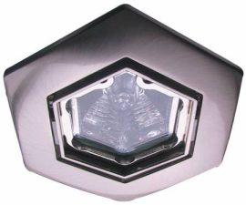 LANDLITE KIT-82-3, HEX (hatszögű), 3db 50W GU10 230V hatszögű halogén izzó, forgatható kivitel, beépíthető lámpa szett (3 db-os halogén szett), króm