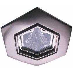 LANDLITE Halogén, GU10, 3x50W, Ø93mm, HEX (hatszögű), billenő, matt króm, spot lámpa szett (KIT-82-3)