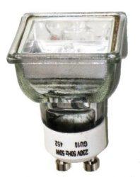 LANDLITE 230V halogén izzó, MRG-C 230V GU10 SQUARE(négyzetes) 50W