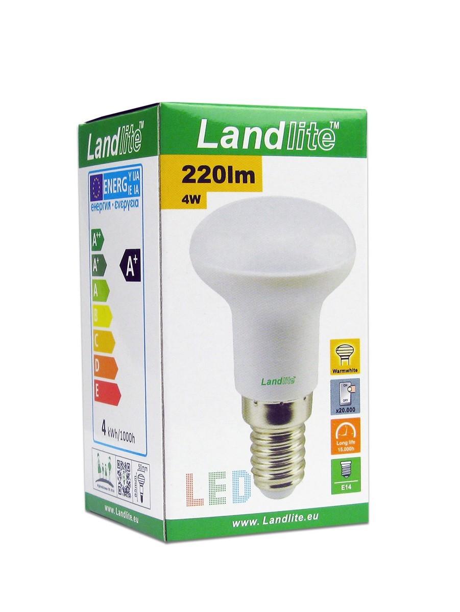 LANDLITE LED R50 4W/SXW E14, Warmweiß, LED Lampe