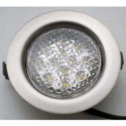 LANDLITE LED-06D-3X1,0W, 3db 1,0W LED 12V, beépíthető lámpa szett (3 db-os LED szett), LED: fehér, lámpa: króm