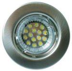 LANDLITE KIT-57A-3, 3db 1,5W GU10 230V fehér LED izzó, fix kivitel, beépíthető lámpa szett (3 db-os LED szett), króm