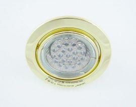 LANDLITE KIT-60A-3, 3db 1,5W GU10 230V fehér LED izzó, forgatható kivitel, beépíthető lámpa szett (3 db-os LED szett), arany