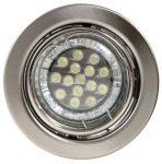 LANDLITE KIT-60A-3, 3db 1,5W GU10 230V fehér LED izzó, forgatható kivitel, beépíthető lámpa szett (3 db-os LED szett), króm