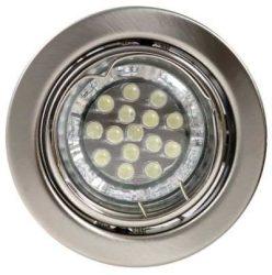 LANDLITE KIT-60A-3, 3db 1,5W GU10 230V fehér LED izzó, forgatható kivitel, beépíthető lámpa szett (3 db-os LED szett), matt króm