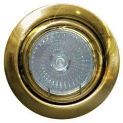 LANDLITE Energiatakarékos, GU10, 3x7W, Ø79mm, billenő, arany, spot lámpa szett (KIT-60-3)