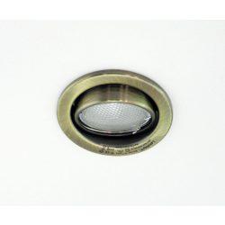 LANDLITE Energiatakarékos, GU10, 3x7W, Ø79mm, billenő, antik bronz, spot lámpa szett (KIT-60-3)