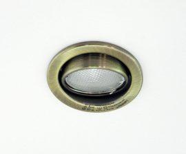 LANDLITE KIT-60-3, 3db 7W GU10 230V kompakt fénycső (energiatakarékos izzó), forgatható kivitel, beépíthető lámpa szett (3 db-os szett), antik bronz