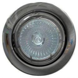 LANDLITE Energiatakarékos, GU10, 3x7W, Ø79mm, billenő, króm, spot lámpa szett (KIT-60-3)