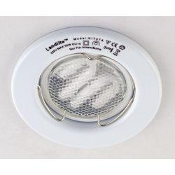 LANDLITE Energiatakarékos, GU10, 3x7W, Ø79mm, fix, fehér, spot lámpa szett (KIT-57A-3)