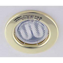 LANDLITE Energiatakarékos, GU10, 3x7W, Ø79mm, fix, arany, spot lámpa szett (KIT-57A-3)