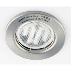 LANDLITE Energiatakarékos, GU10, 3x7W, Ø79mm, fix, matt króm, spot lámpa szett (KIT-57A-3)