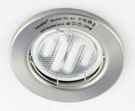 LANDLITE KIT-57A-3, 3db 7W GU10 230V fehér kompakt fénycső (energiatakarékos izzó), fix kivitel, beépíthető lámpa szett (3 db-os szett), matt króm
