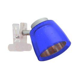 LANDLITE FELIX G929-1C csíptetős spotlámpa (kék), G9 foglalattal