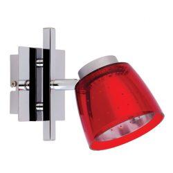 LANDLITE FELIX G929-1R falra szerelhető spotlámpa (piros), G9 foglalattal