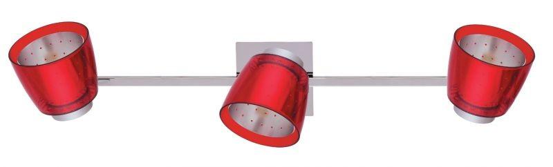 LANDLITE FELIX G929-3TU bunt, Wand spot Lampen (chromozott rot ...