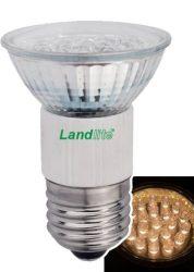 LANDLITE LED-JDR/21 E27 230V 1.5W LED izzó, melegfehér